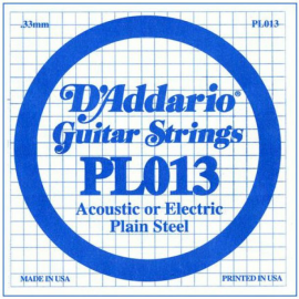 D' ADDARIO PL013 ELECTRIC AND ACOUSTIC GUIT STRING