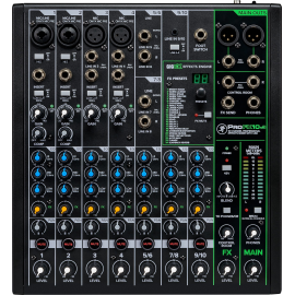MIXED 10-CHANNEL MACKIE PROFX10V3 TABLE